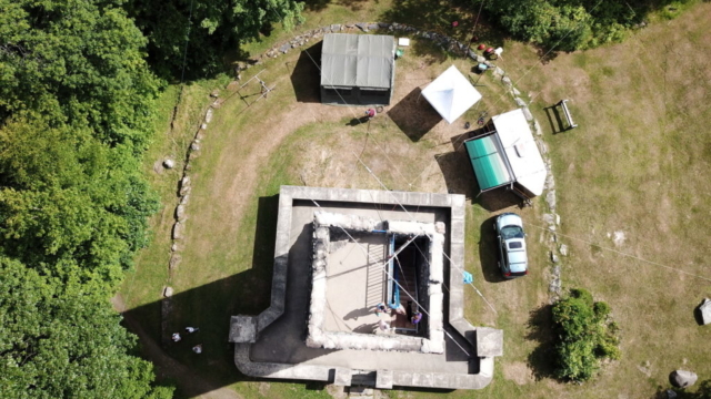 Hubbard Park Tower and Triband Yagi from above