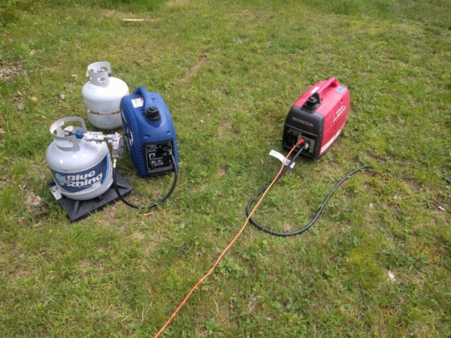 All of CVARC field day was run using emergency backup power with propane and gasoline-powered electric generators